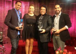 Diseñadores Jorge David, Luz García, Leonel Lirio y Luís Domínguez