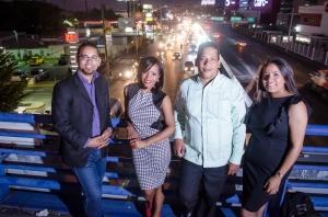 Staff de La República Radio Jhonatan Liriano, Millizen Uribe, Carlos Pimentel y Dania Batista