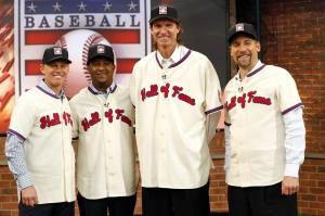Craig Biggio, Pedro Martinez, Randy Johnson y John Smoltz.