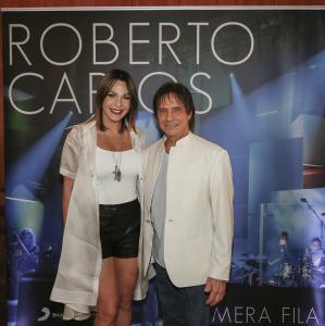 Luz García y Roberto Carlos en Brazil